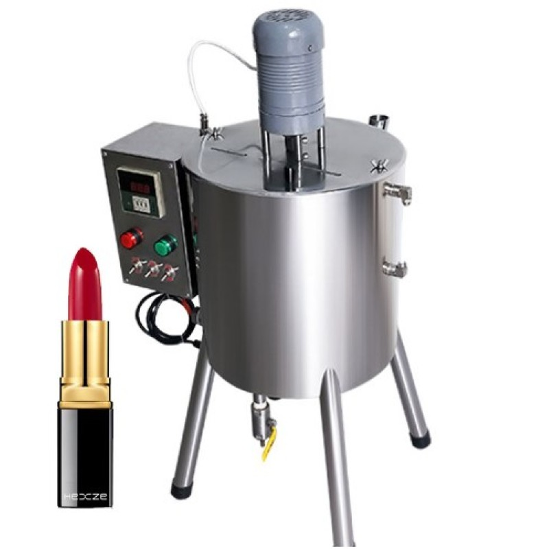 15L/30L lipstick small volume lip balm lip gloss viscous filling machine with mixer and heater
