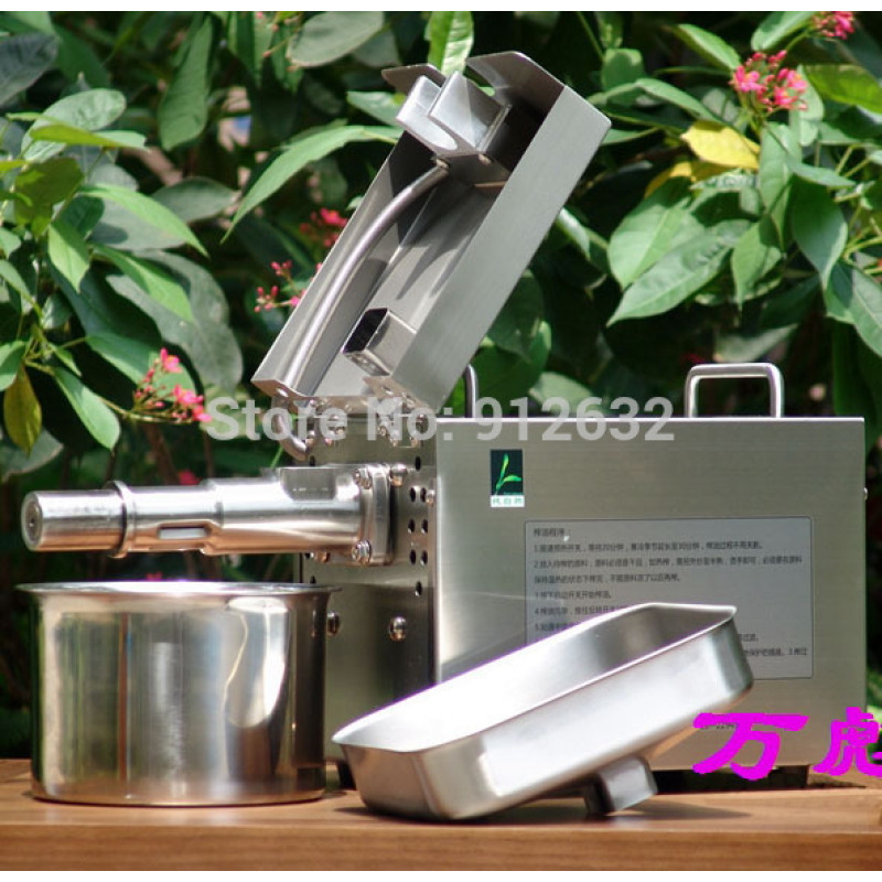 Stainless Steel Home Use Sesame Peanut Soybean Walnut Home Oil Presser Machine