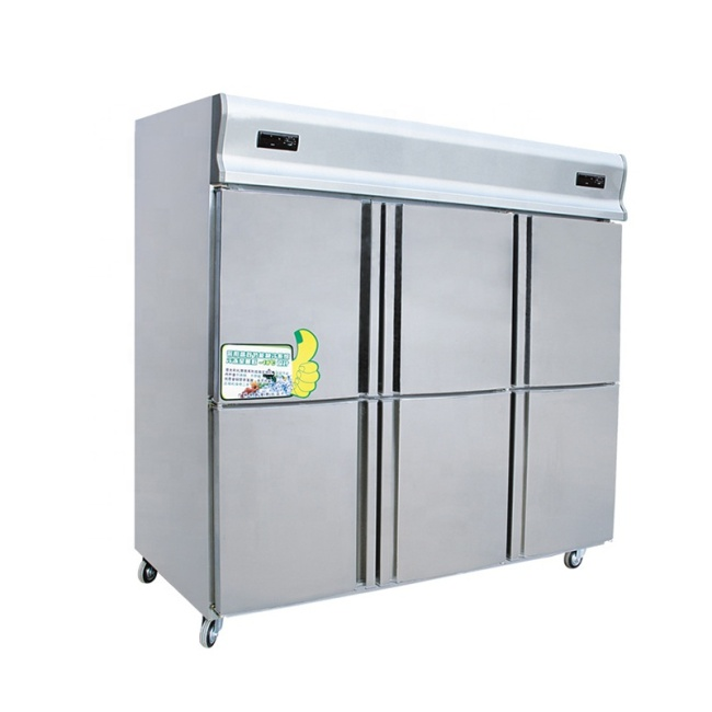 2 Temperature 4 Door Commercial Stainless Steel Deep Freezer Made in Henan Guangzhou