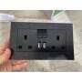 Metal Glass PU Material Hong Kong USB British Standard Wall Socket