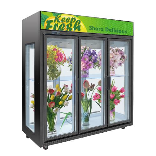 2020 New design Flower Glass door Floral Fresh Keeping Refrigerator Display Cooler Showcase Cold Fridge