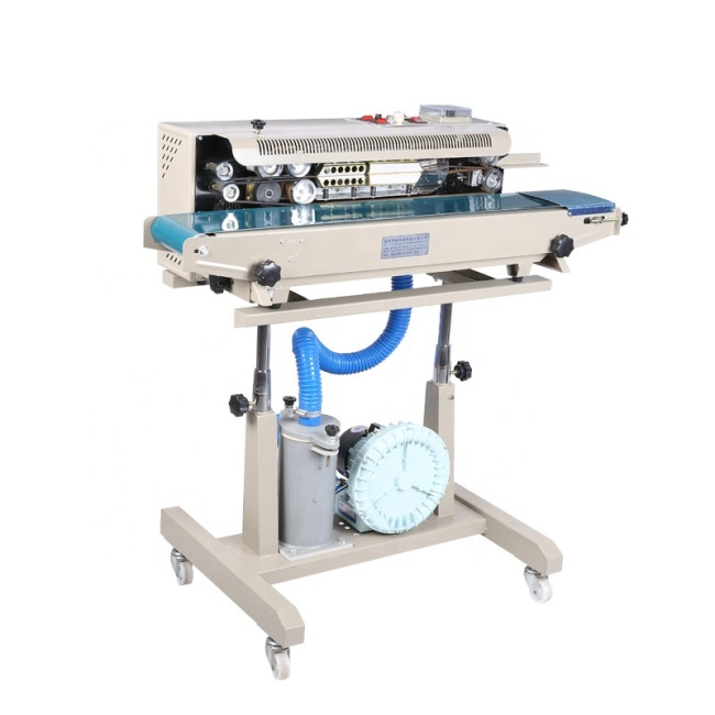 Vertical Packing Sealing Machine Automatic Printing Words New Air Filling Chips Continuous Sealer Price for Sell