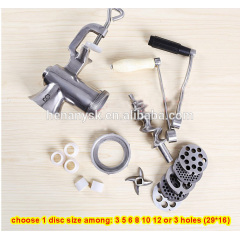 #8 304 Stainless Steel Manual Meat Grinder Minced Meat Stuffing Cutter Grinders Home Hand Sausage Filler Machine