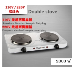 110v Electromagnetic Furnace 220v European Standard Double Head Double Stove Electric Heater High Power
