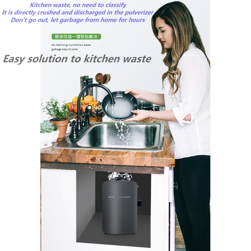 Smart Kitchen Waste Shredder Crusher Household Spot Food Waste Disposer Wholesale Garbage Processor Under Kitchen Sink ODM