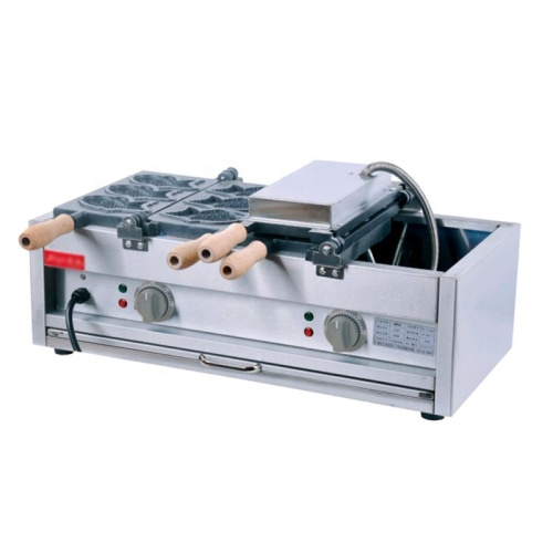 IS-FY-1102C Commercial Fish Shape With Open Mouth Taiyaki Maker 10 Fish Magikarp Taiyaki Machine