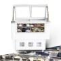 10 pans <-18 Countertop Cream Freezing Gelato Counter IceCream Display Freezer With Stainless Steel Shutters Danfoss Compressor