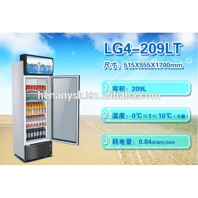 Industrial 1glass Door Upright Display Freezer of Higih Quality