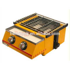IS-ET-K111 Luxury Two-Head Environmental Roaster Gas Home Barbecue Grill Machines