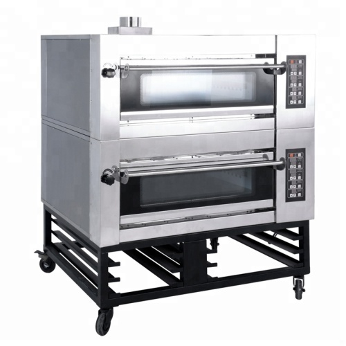 2 Layers 4 Trays High Quality Stainless Steel Gas BAKERY Ovens Bread Baker