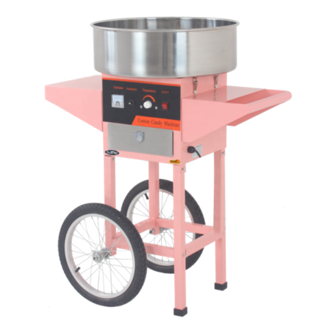 Commercial Cotton Candy Floss Maker Cotton Maker Machine With Cart And Bubble Cover