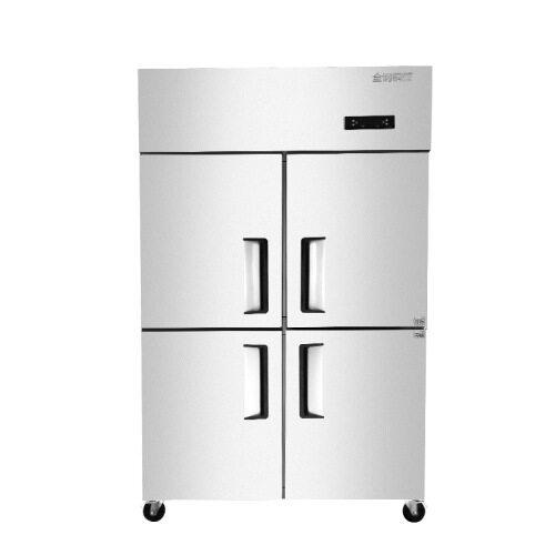 4 6 Door Freezer Vertical Deep Freezer Commercial Stainless Steel Refrigerator Kitchen Refrigeration Equipment Workbench