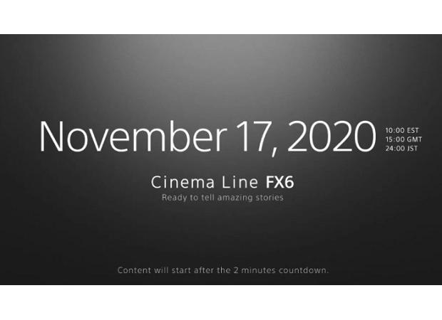 Sony FX6 cinema camera coming  soon