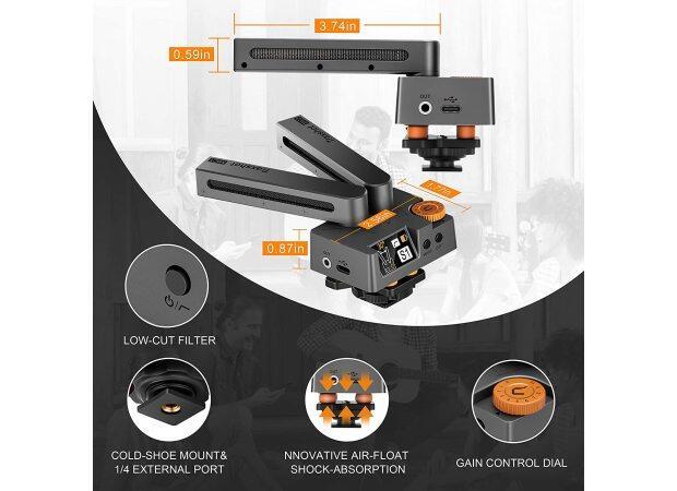 New:Comica Traxshot Super-Cardioid Transformable Directional Shotgun Video Microphone