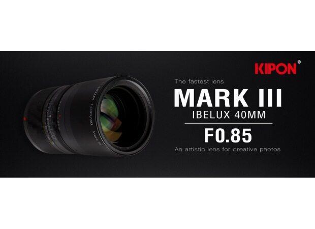 New KIPON IBELUX 40mm f/0.85 Mark III mirrorless APS-C lens
