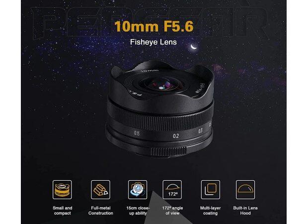 Pergear 10mm f/5.6 pancake fisheye APS-C lens