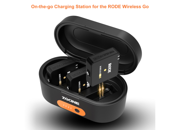 ZGCINE ZG-R30 fast charging case for RODE Wireless GO/GO II