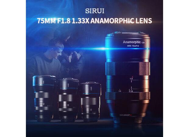 SIRUI Announces Ground Breaking New 75mm f1.8 1.33x Anamorphic Lens