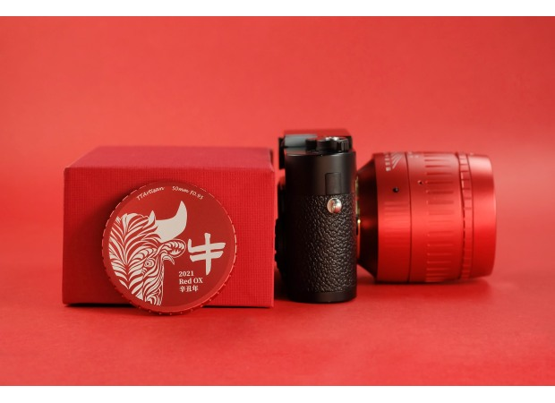 TTartisan officially announced a new red limited edition 50mm f/0.95 lens for Leica M-moun