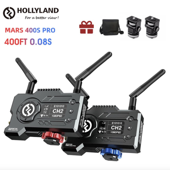 Vloggears Hollyland Mars 400S Pro Wireless Video Transmitter Receiver 400ft SDI HDMI 1080p Wireless Transmission System