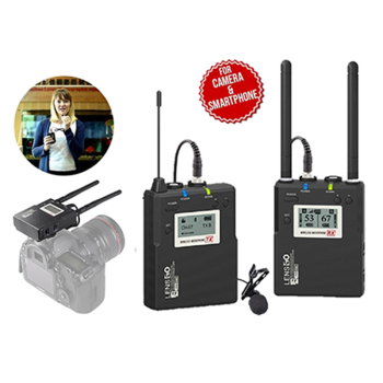 Vloggears LWM-338C lavalier wireless microphone One With Two