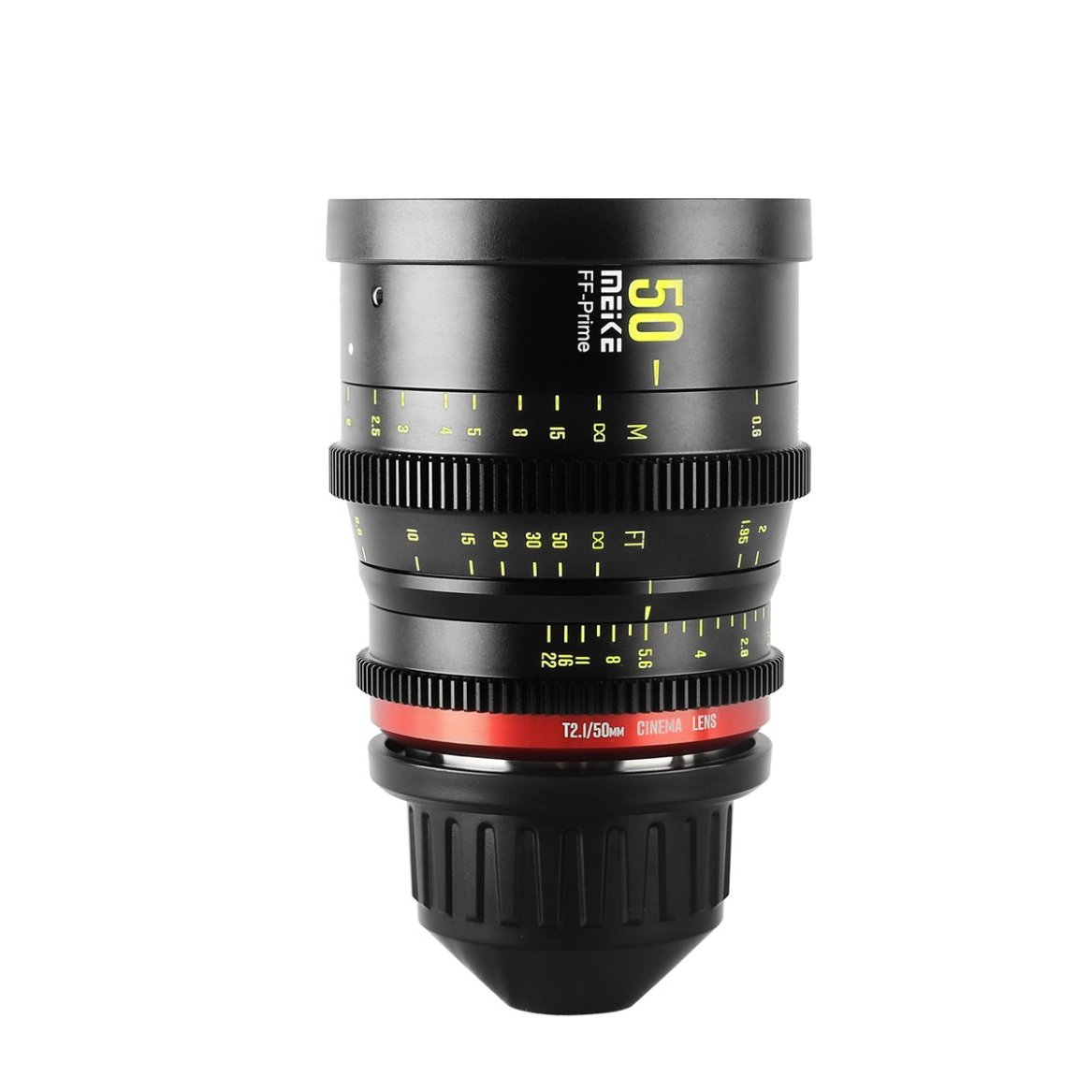 Prime 50mm T2.1 Cine Lens for Full Frame Cinema Camera