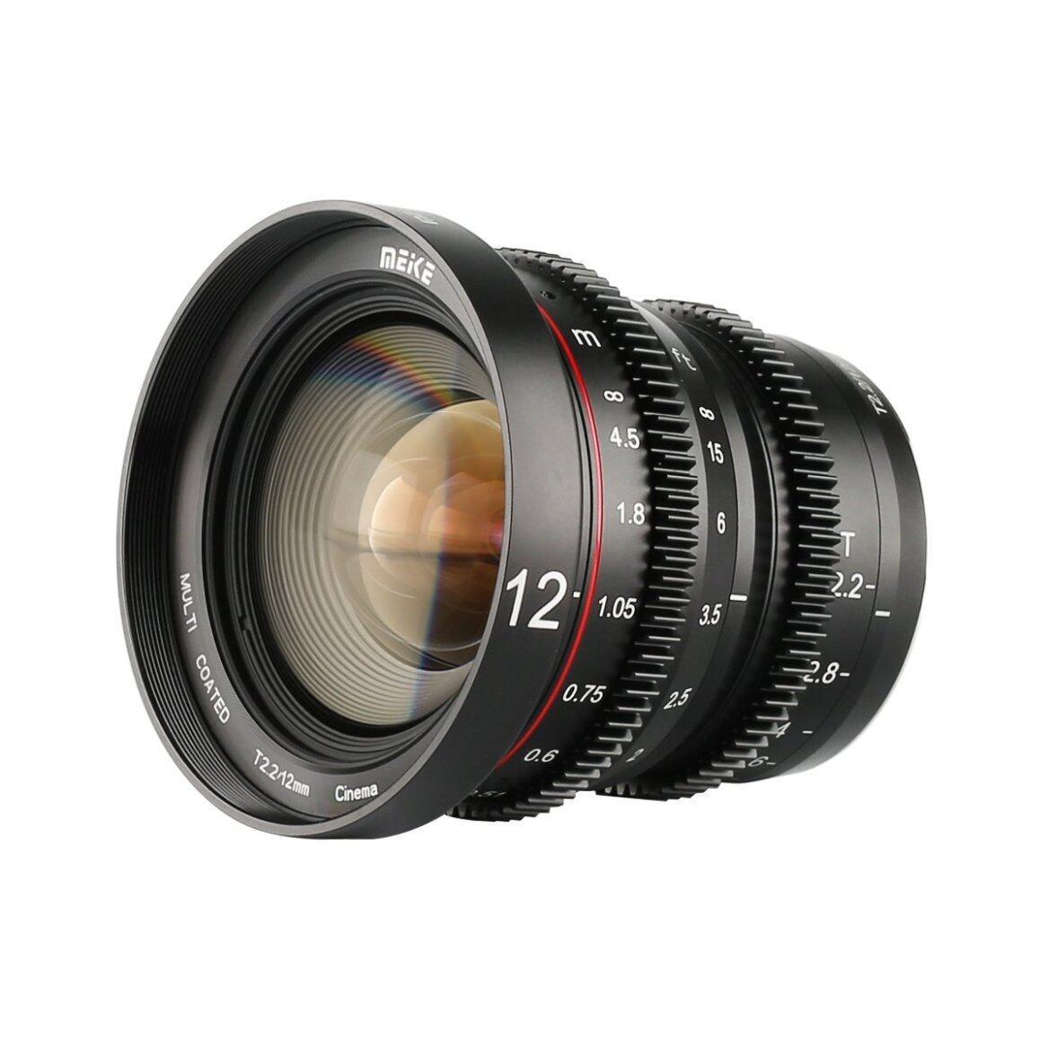 Cine Lens 12mm T2.2 for MFT GH5 GH5s  BMPCC 4K Zcam E2