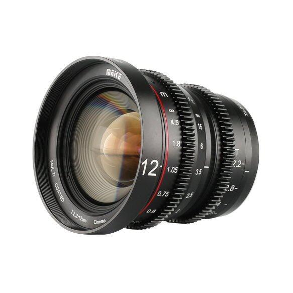 Vloggears Cine Lens 12mm T2.2 for MFT GH5 GH5s  BMPCC 4K Zcam E2