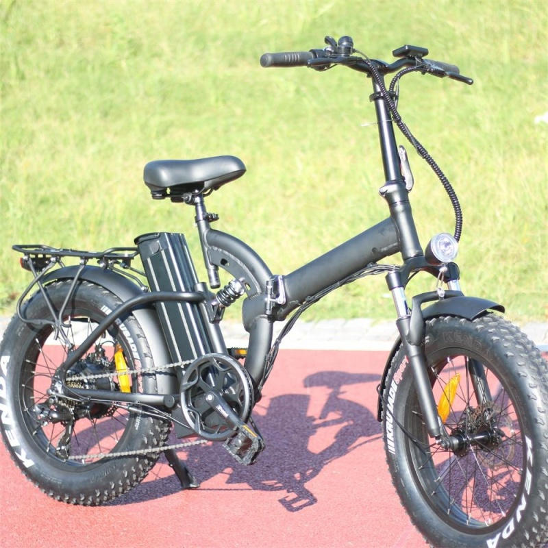 Eu warehouse 500w electric bicycles for adult Foldable mountain ebike with 20 inch fat tire Removable battery 48v