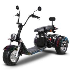 Hot sale 3 wheel 1500W 60V electric motorcycle Electric scooter Adult Citycoco with double seats and 10 inch tires