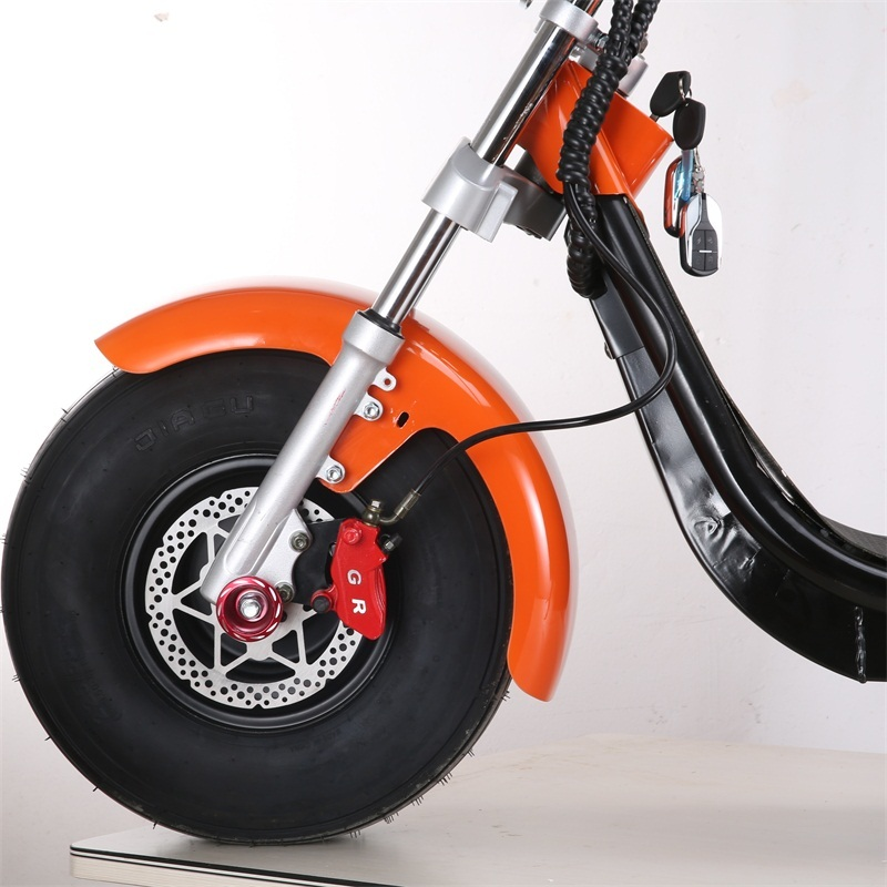 1500W Electric scooter adult cheap electric motorcycles Citycoco EEC with 8 inch tires