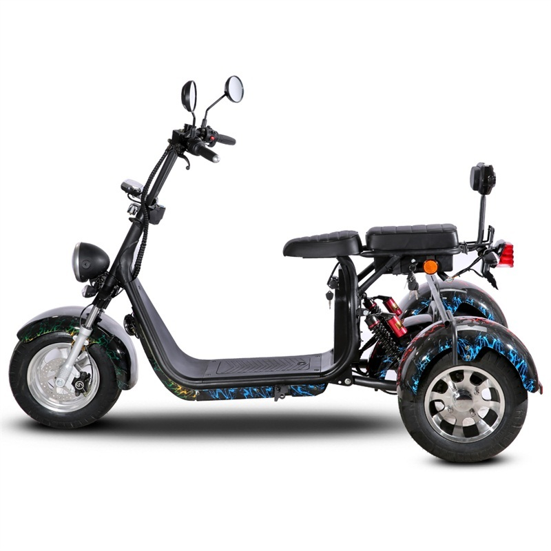 1500W Electric motorcycle for adult electric motor tricycle with 10 inch tires motor car battery power 60v-20ah
