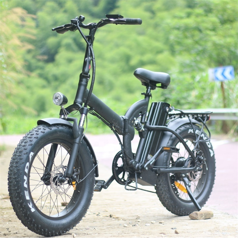 EU warehouse Removable battery 48v15ah 500w Motor ebike european electric bicycle foldable fat bike