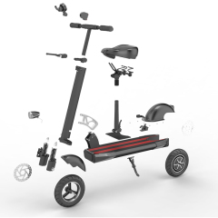 Europe warehouse adult 500w foldable electric kick scooter Citycoco with 10 inch tires