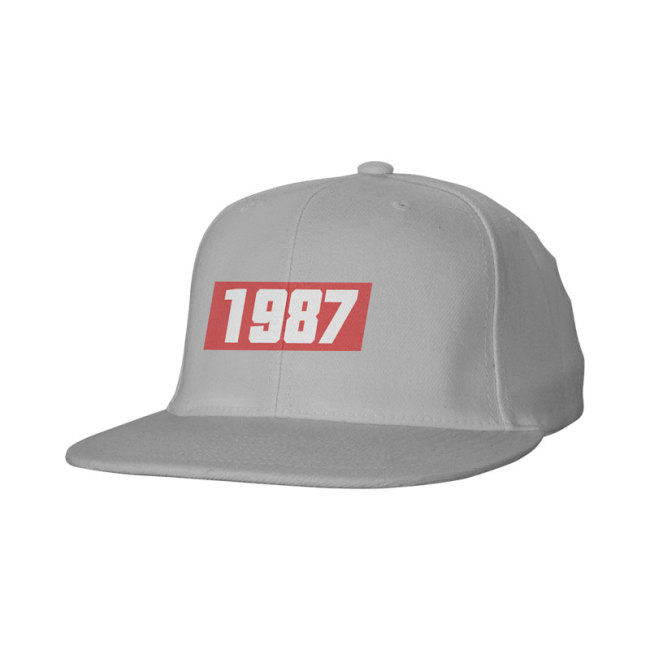Cotton Snap Back Flat Bill Cap-Full Color Screen Print