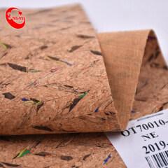 Wholesale Stock Pattern Portugal Print Puprint Custom Pu Natural Environmental Cork Leather Fabric Suitable For Bag