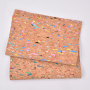 100% Natural Cork Fabric Leather Printed Eco-friendly for shoes for bag