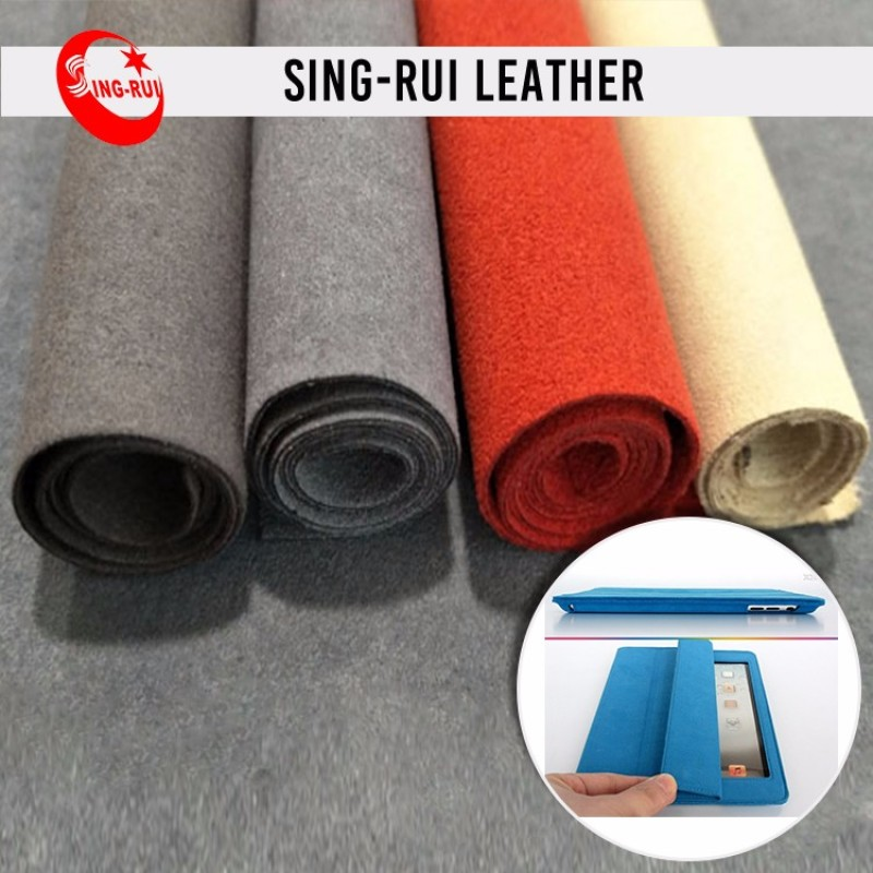Durable Microfiber Suede fabric Leather for Shoes and bags