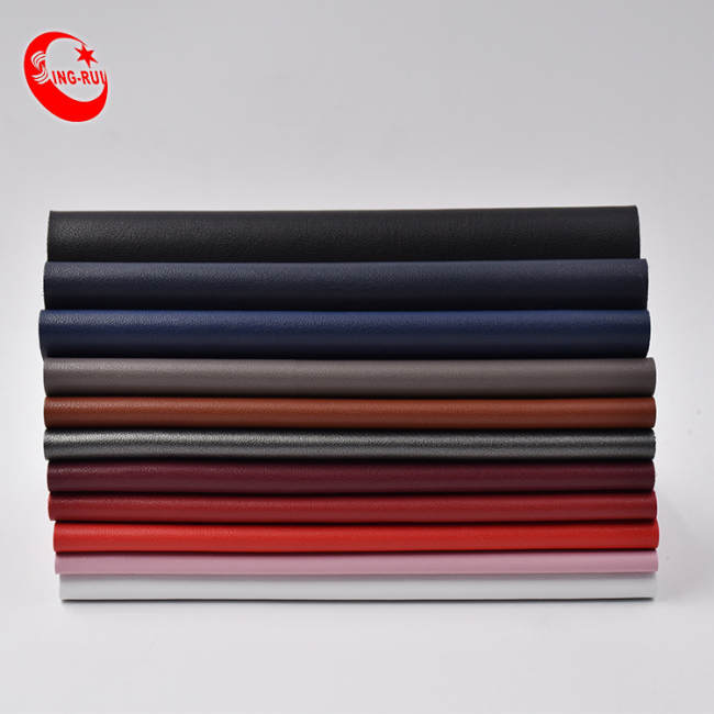 Breathable raw material Pu Microfiber pu Leather Stock Hydrolysis Resistance Leather For Shoes And Bags