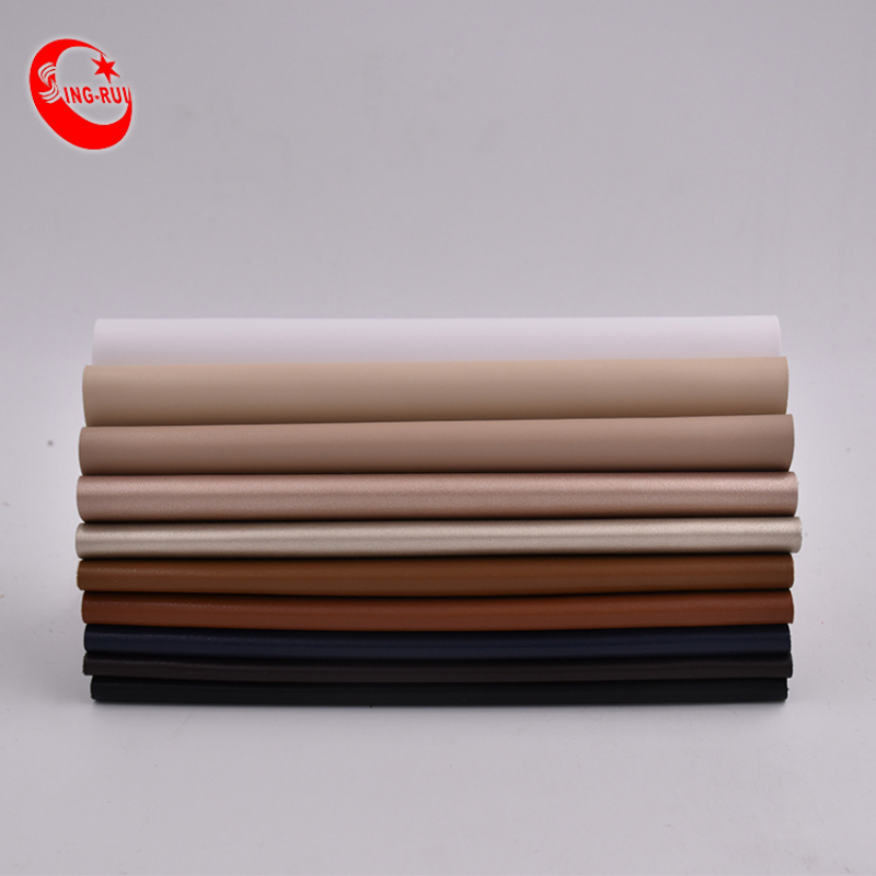 Classic Nappa Leather Fabric Soft Pu Synthetic Leather Roll