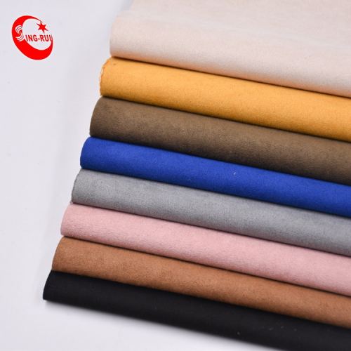 300GSM OEM Colorful upholstery suede fabric Durazno for shoes for South America