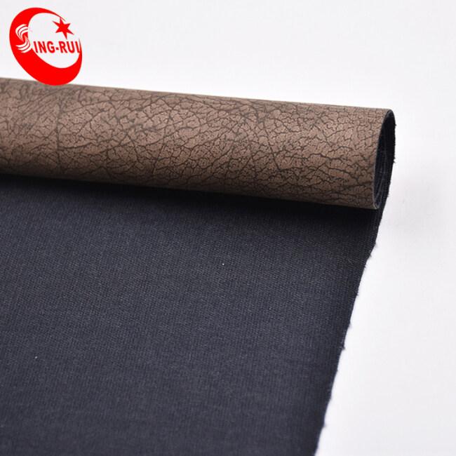 Custom High Quality Tree Bark Leather Pu Artificial Leather