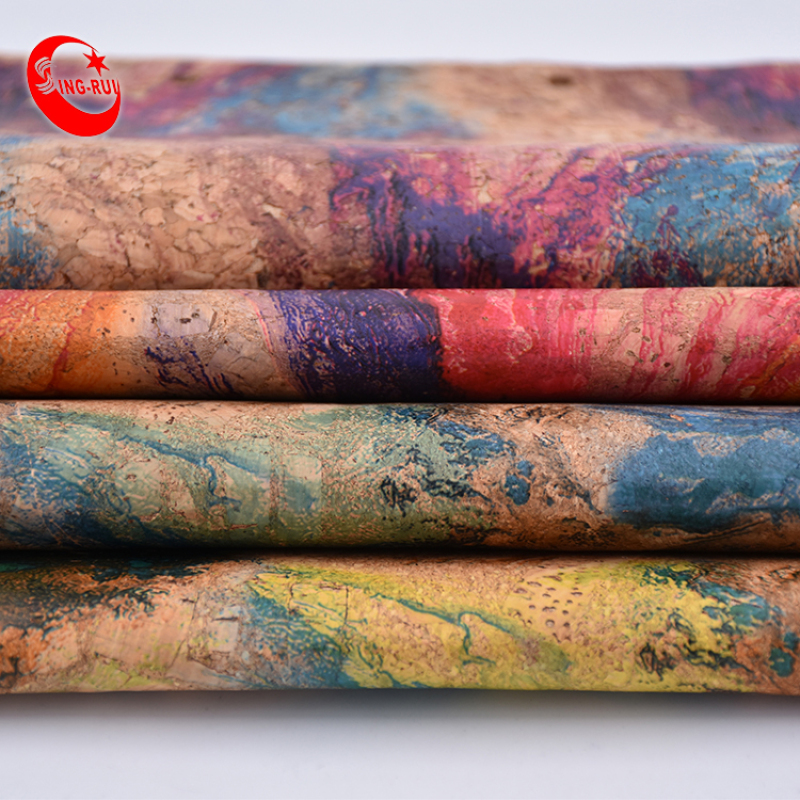 Pu Fabric Synthetic Cork Roll Flower Cork Leather Fabric