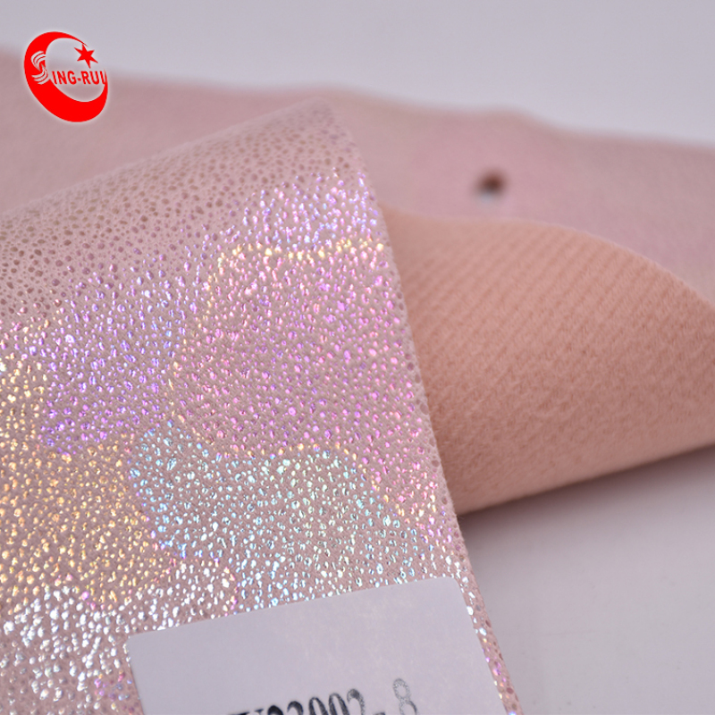Wholesale Leather Dotted Yangbuck Material Pu Artificial Leather Fabric for shoes