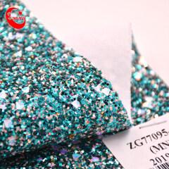 Классическая блестящая искусственная кожа Zarina с блестками и блестками для рукоделия