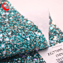 Classic Shining Chunky Glitter Zarina Fabric Faux Leather for craft