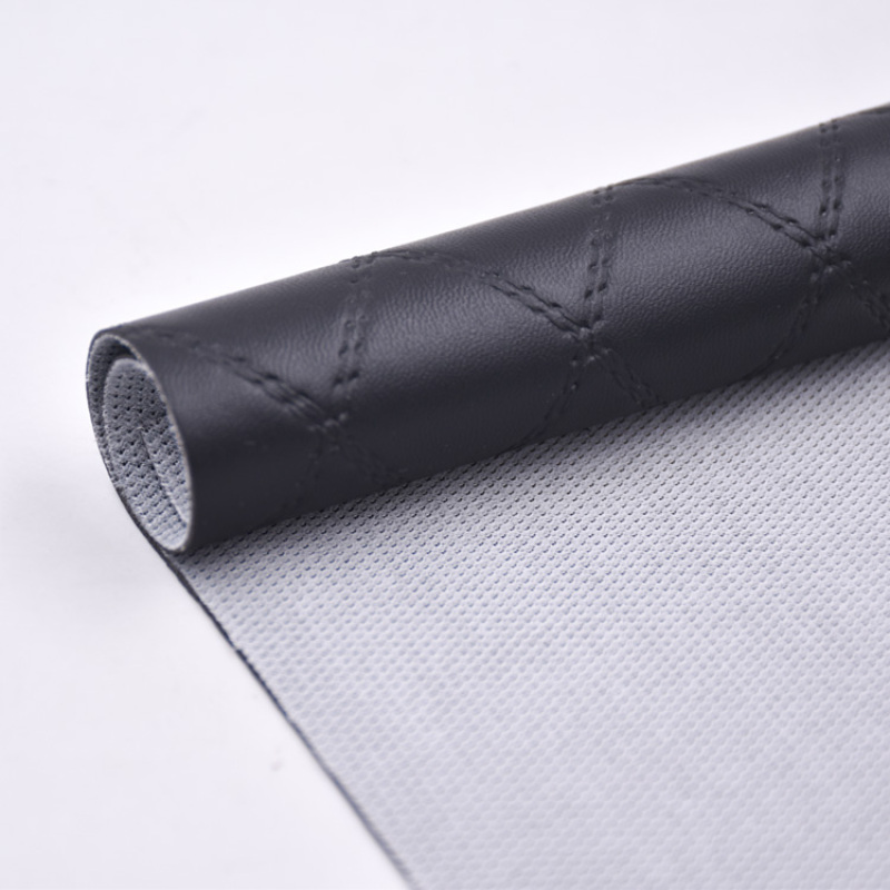 PVC Faux Leather Imitation Embroidery Quilting Diamond Stitching For Sofa
