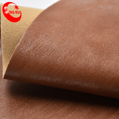Кожа экспортера питания ПУ кожа ткань горячей фольги