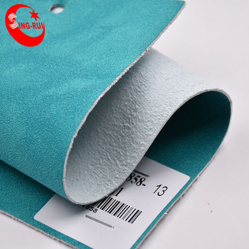 1.4 mm Synthetic Leather Suede Microfiber Leather For Shoe Upper