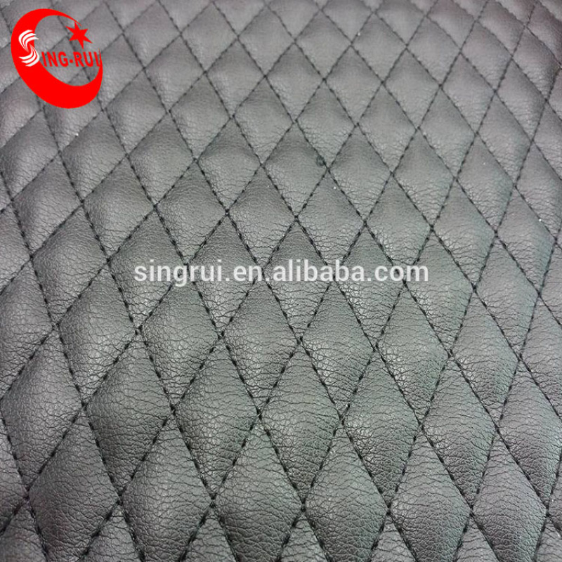 Hot Sell Quilt Lamination Artificial Leather For Boots